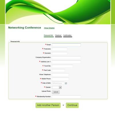 Sample Registration Forms - Create a Registration Form